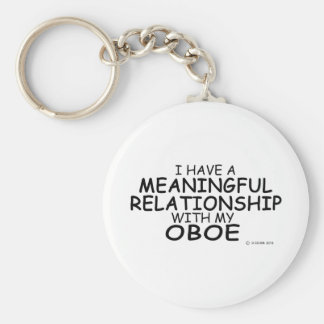 Meaningful Relationship Oboe Basic Round Button Keychain