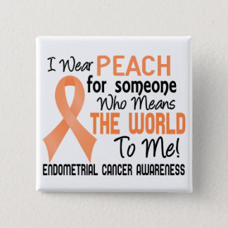 Means The World To Me 2 Endometrial Cancer 2 Inch Square Button
