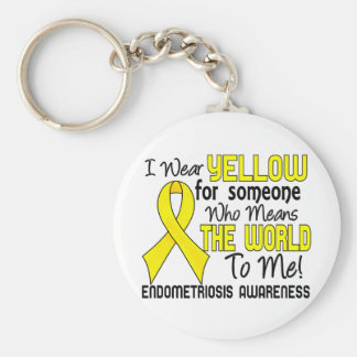 Means The World To Me 2 Endometriosis Basic Round Button Keychain