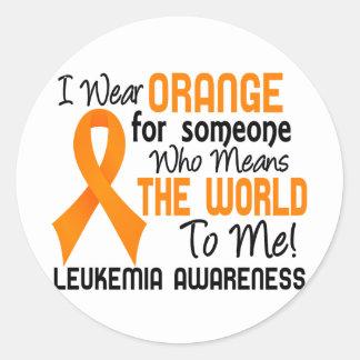 Means The World To Me 2 Leukemia Round Sticker