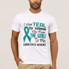 Means The World To Me 2 Ovarian Cancer T-Shirt