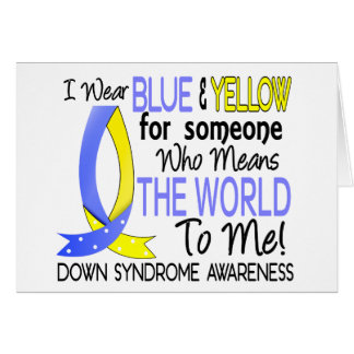 Means The World To Me Down Syndrome Card