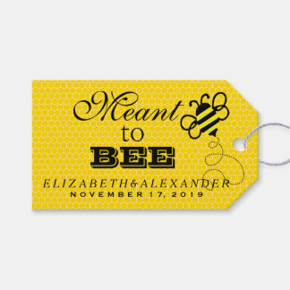 Meant To Bee Wedding Guest Favor Thank You Gift Tags