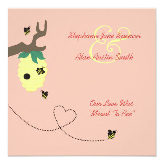 Meant To Bee Wedding Invitation