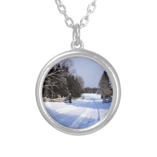 Meanwhile in Canada, Winter! Silver Plated Necklace