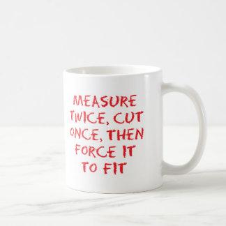 Measure and force coffee mug