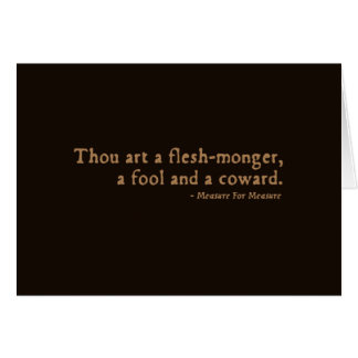 Measure For Measure Insult Cards