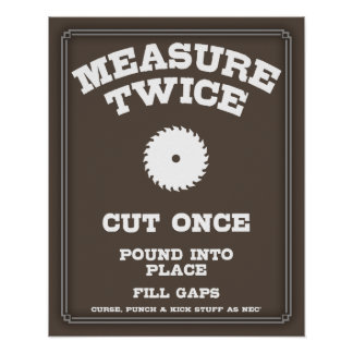 Measure Twice IV Poster