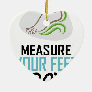 Measure Your Feet Day - Appreciation Day Ceramic Heart Ornament
