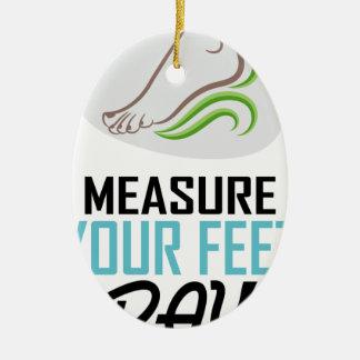 Measure Your Feet Day - Appreciation Day Ceramic Oval Ornament
