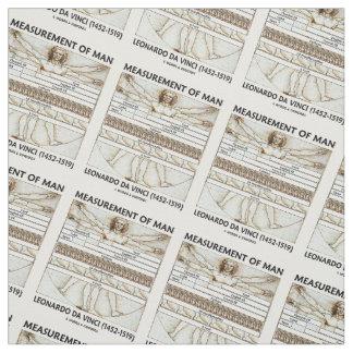 Measurement Of Man Vitruvian Man da Vinci Fabric