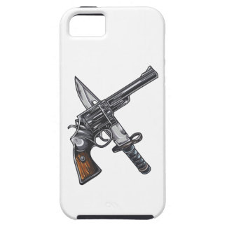 Measurer pistol knife gun iPhone 5 case