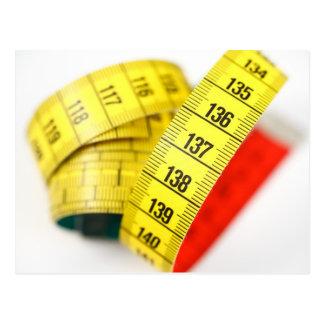 Measuring tape postcard