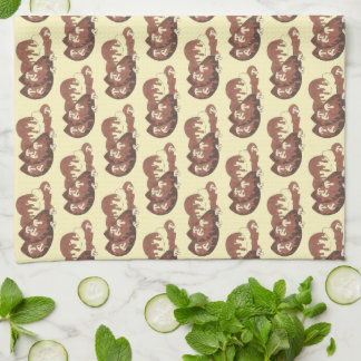 Meat and Potatoes Meatloaf Mushroom Gravy Cooking Kitchen Towel