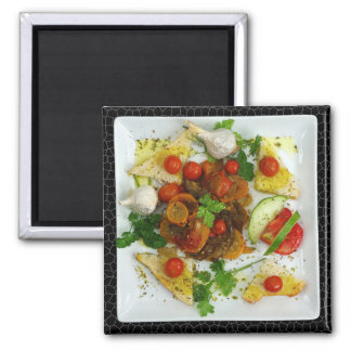 Meat and Vegetables Dinner Refrigerator Magnet