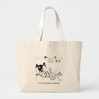 Meat Cartoon 9339 Large Tote Bag