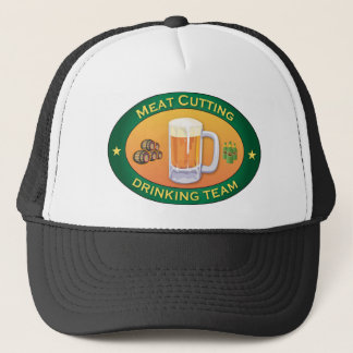 Meat Cutting Drinking Team Trucker Hat