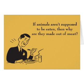 Meat Eating Carnivore Anti-Vegan Humor Card