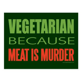 Meat Is Murder - Anti-Meat Postcard