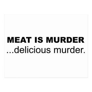 Meat is Murder, Delicious Murder Postcard