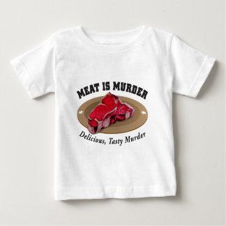 Meat Is Murder - Delicious, Tasty Murder Baby T-Shirt