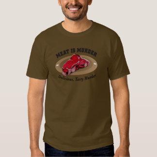 Meat Is Murder - Delicious, Tasty Murder Tee Shirt