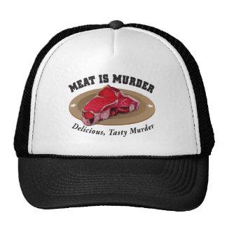Meat Is Murder - Delicious, Tasty Murder Trucker Hat