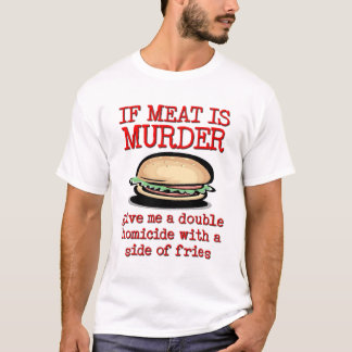 Meat Is Murder Funny Shirt Humor