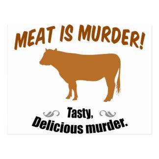 Meat is Murder! Postcard