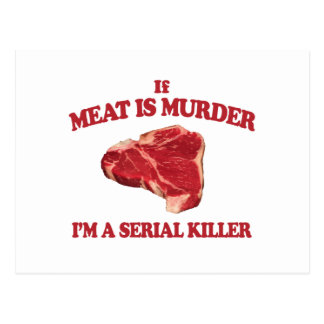 Meat is murder postcard