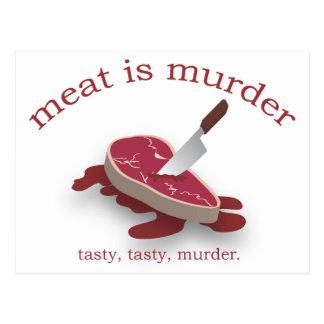 Meat is Murder Postcard