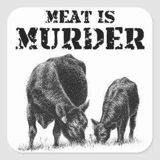 Meat Is Murder Square Sticker