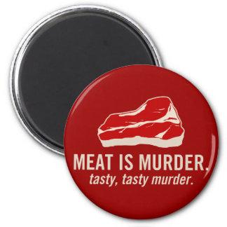 Meat is Murder, Tasty Murder 2 Inch Round Magnet