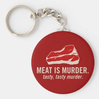 Meat is Murder, Tasty Murder Basic Round Button Keychain