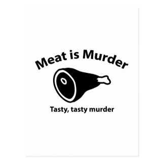 Meat is Murder. Tasty, tasty murder. Postcard