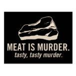 Meat is Murder.  Tasty, Tasty Murder Postcard