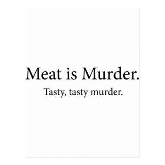 Meat Is Murder Tasty Tasty Murder Postcard