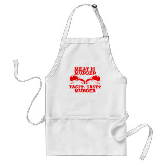 Meat is Murder. Tasty, Tasty Murder Standard Apron
