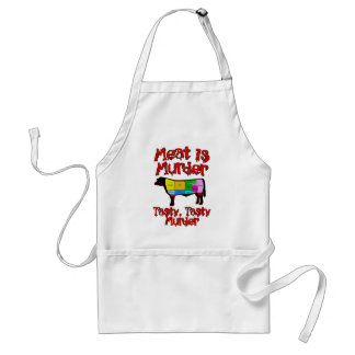 Meat is Murder. Tasty, Tasty Murder. Standard Apron