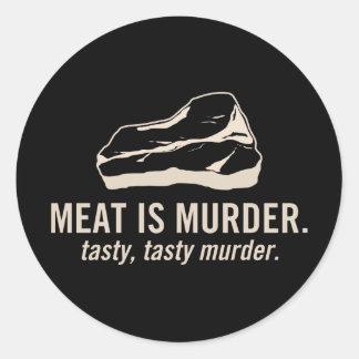 Meat is Murder.  Tasty, Tasty Murder Sticker