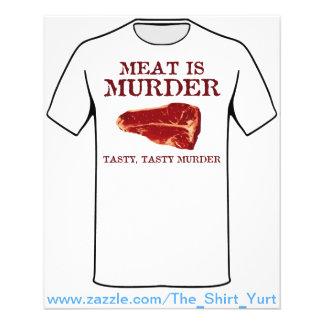 Meat is Tasty Murder Custom Flyer
