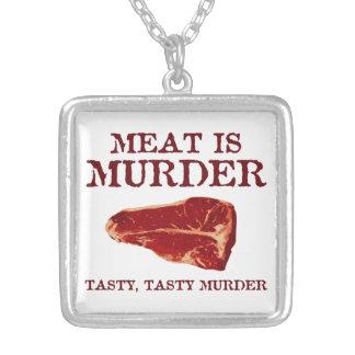 Meat is Tasty Murder Jewelry
