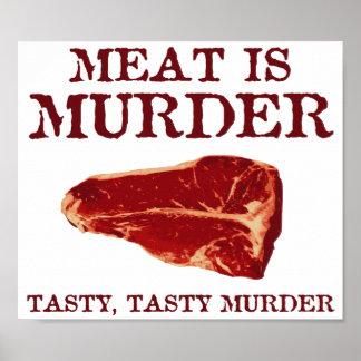 Meat is Tasty Murder Print