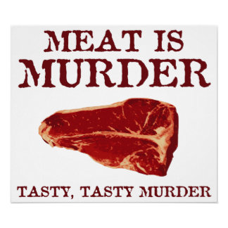 Meat is Tasty Murder Poster