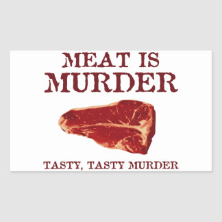 Meat is Tasty Murder Rectangle Stickers