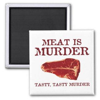 Meat is Tasty Murder Refrigerator Magnet