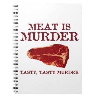 Meat is Tasty Murder Spiral Notebooks