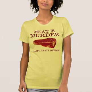 Meat is Tasty Murder T-shirts