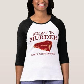 Meat is Tasty Murder Tee Shirts
