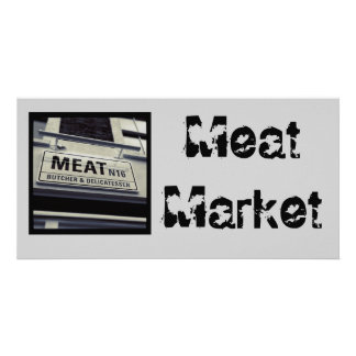 Meat Market Postcard Personalised Photo Card